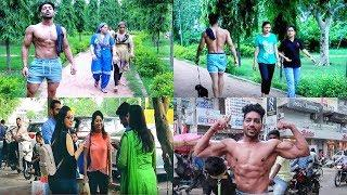 When Fitness Freak goes Shirtless in Public (Amazing Reaction