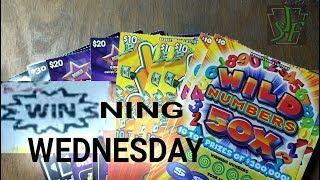 Winning Wednesday.  $160 End of the book Smorgasbord.  Lottery scratch tickets