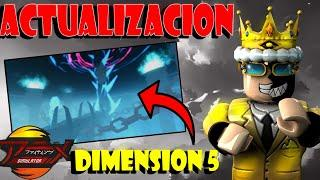ACTUALIZACION ANIME FIGHTING SIMULATOR UPDATE ROBLOX *DIMENSION 5* FIGHTING PASS SEASON 3 leaks