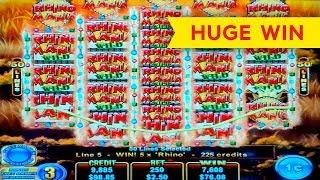 Firestorm Rhino Rumble Slot - HUGE WIN, AWESOME!
