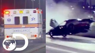 Ending A Drag Race With A High Speed Crash!  | Street Outlaws: No Prep Kings
