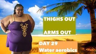 DAY 29 OF THE LETS MOVE CHALLENGE |  water aerobics workout |  aqua fitness |  prissy p