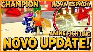 *NOVO UPDATE!!* NOVA ESPADA e CHAMPIONS no ANIME FIGHTING SIMULATOR ‹ Frango ›