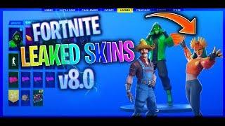 - leaked fortnite skins and emotes season 8