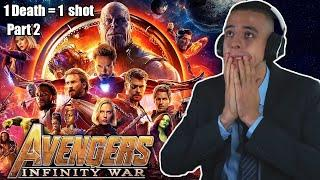HOW MANY SHOTS? AVENGERS: INFINITY WAR! Movie Reaction! FIRST TIME WATCHING! (Part 2/2)