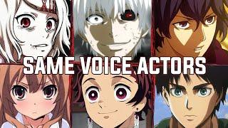 Tokyo Ghoul All Characters Japanese Dub Voice Actors Same Anime Characters