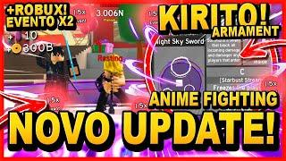 *NOVO UPDATE SEASON 3? +ROBUX!!* KIRITO!! NOVO ARMAMENT no ANIME FIGHTING SIMULATOR ‹ Frango ›