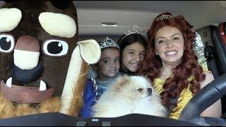 BEAUTY AND THE BEAST HAPPY DOG WITH DANCING CAR RIDE
