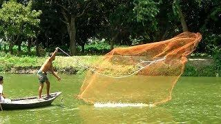 Unbelievable Cast Net Fishing।Big Fish Hunting By Cast Net। Net Fishing in the River(Part-103)
