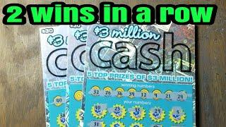 2 wins in a row.  Lottery scratch tickets