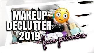DECLUTTER MY MAKEUP COLLECTION #4 | FACE PRIMERS | Andrea Renee