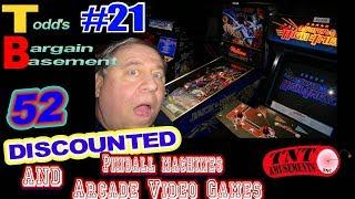 #1452  BARGAIN BASEMENT #21-52 Discounted Pinball & Arcades-TNT Amusements