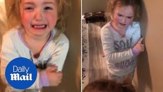 Little girl wants a FEVER because her sister has one