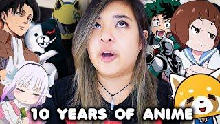 ✨REVEALING MY TOP ANIME OF THE DECADE✨