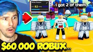 I Spent $60,000 ROBUX To Get The RAREST MYTHICAL FIGHTER In Anime Fighters Simulator!! (Roblox)