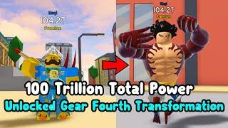 I Got Gear Fourth Transformation And Reached 100 Trillion Total Power! - Anime Fighting Simulator