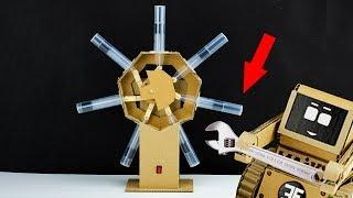 How it Works?  Radial Engine Model from Cardboard