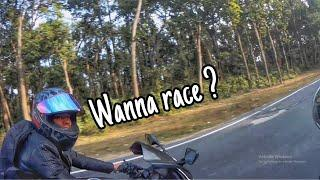 she wants to race | high speed chase | street race | r15 v3 | royal enfield |