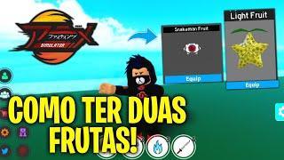 SAIU! *COMO TER DUAS FRUTAS!* NO ANIME FIGHTING SIMULATOR ROBLOX! « Tigre »