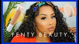 NEW FENTY BEAUTY HYDRATING FOUNDATION : HONEST REVIEW | TheAnayal8ter