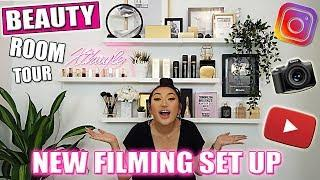 EXTREME BEAUTY ROOM MAKEOVER | FILMING SET UP FOR MAKEUP BEAUTY VIDEOS