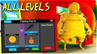 *ALL* LEVELS UNLOCKED IN *NEW* FIGHTING PASS SEASON 3 IN ANIME FIGHTING SIMULATOR ROBLOX