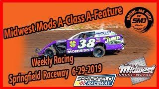 S03-E326 Midwest Mods A-Class A-Feature - Springfield Raceway 6-29-2019 #DirtTrackRacing