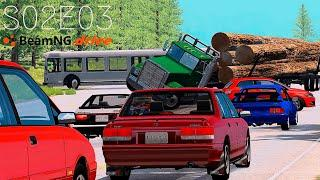 Beamng Drive Movie: Epic Freeway Chase (+Sound Effects)  Part 13  - S02E03