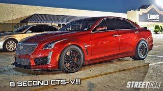 Fastest V3 CTS-V takes on Twin Turbo Mustang, ZR1 & MORE on the STREET!!!