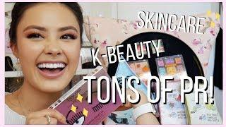 CHATTY BEAUTY PR UN-BOXING | Skincare, K-Beauty & Makeup Haul