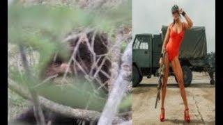 Fitness model eye witnesses Bigfoot.  Sasquatch fingerprints found