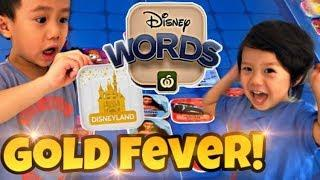 Gold Castle Fever! Lets rip open more Woolworths Disney Words Character Tiles!