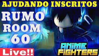Rumo a Room 60 Live ANIME FIGHTERS SIMULATOR ROBLOX codes anime fighters ao vivo anime fighter codes