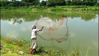 Cast net fishing for River see। Big fish hunting by cast net।Net fishing (part-95)