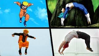 Stunts From Anime In Real Life (Dragon Ball, Naruto)