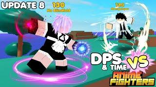 6️⃣✨SHINY CRAFTING FIGHTERS DPS COMPARE (LEVEL 130) | ANIME FIGHTERS SIMULATOR