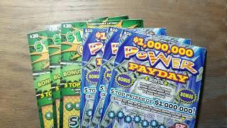 $120 in $20 Lottery scratch tickets.  Old and new. Same thing only different.