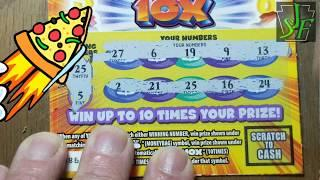 2's for Tuesday.  Lucky numbers 10X. Lottery scratch tickets