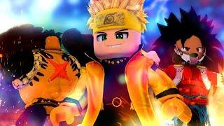 JOGANDO COM 2 CONTAS de ROBLOX no ANIME FIGHTING SIMULATOR !! ‹ Ine Games ›