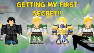 GETTING MY FIRST SECRET IN ANIME FIGHTER SIMULATOR!
