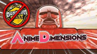 ANIME DUNGEON QUEST?! | Anime Dimensions [Roblox]