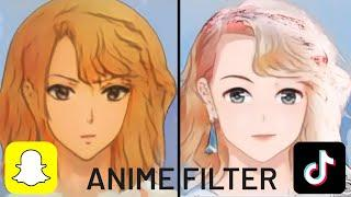 Anime Filter - Snapchat vs. TikTok