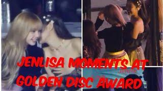 Jennie and Lisa Best Friends Moments at Golden Disc Award (