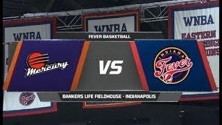 Indiana Fever vs Phoenix Mercury WNBA Game Highlights 6 9 2019