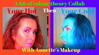 Your hot then your cold collab with Annette's Makeup Corner. Exploring warm vs cool makeup colours.