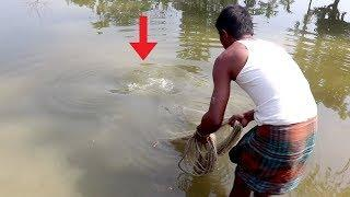 Amazing Net Fishing | Big Fish Hunting With Cast Net | Net Fishing in the Village Pond (Part-01)