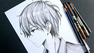 How to DRAW anime boy in SIDE VIEW [Anime Drawing Tutorial For Beginners]