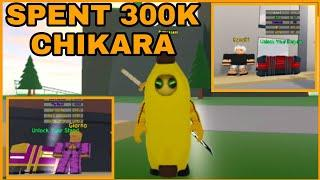 I SPENT 300K CHIKARA SHARDS!! BUT VERY SAD :( !!!! Anime Fighting Simulator - Roblox - Part 19