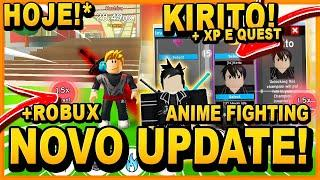 *NOVO UPDATE?!* KIRITO CHAMPION RARO* +XP e NOVO EVENTO no ANIME FIGHTING SIMULATOR ‹ Frango ›