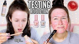 TESTING *NEW* REVOLUTION BEAUTY... (Makeup, Skincare, Nails)